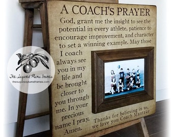 Soccer Coach Gift, Coach Thank You Gift, Coach Frame, A Coach's Prayer, 16x16 The Sugared Plums Frames