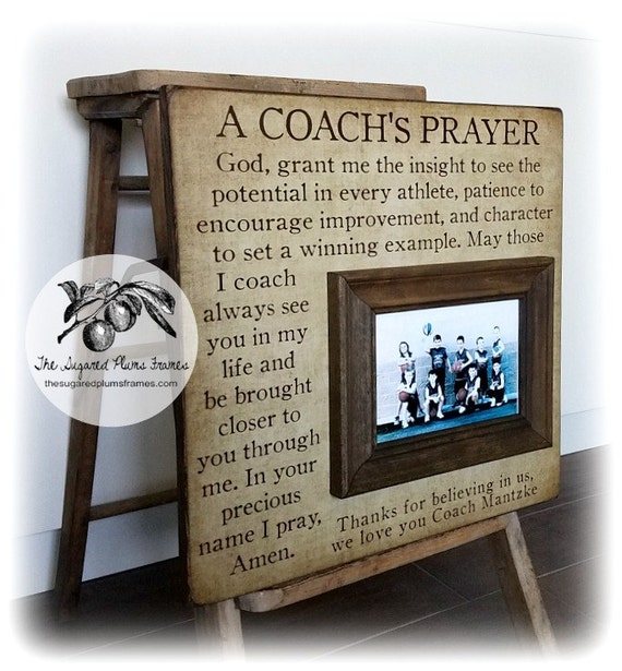 Soccer Coach Gift Coach Thank You Gift Coach Frame A