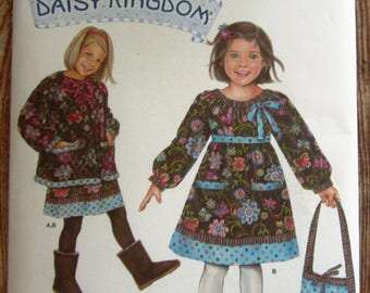 Little Girls Dress, Jacket and Bag Sizes 2 3 4 5 Daisy Kingdom Simplicity Pattern 2348 UNCUT