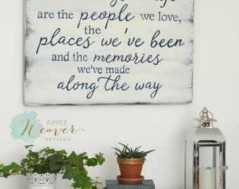 The best things in life reclaimed wood sign