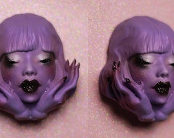 KandLdoll Brooch - Artist cast, hand painted !
