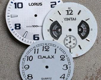 Large Watch Faces -- set of 3 -- D7