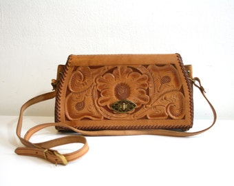 Tooled Flower Satchel