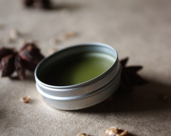 RÉGLISSE VERTE Solid Perfume / Aromatic Gourmand / Licorice Root + Violet Leaf + Iris + Rare Woods / Rich - Mysterious - Enticing / .25 oz