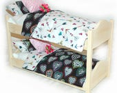 Double Doll Bunk Bed - Sweet Heart American Girl Doll Furniture - Fits 18 inch dolls and AG dolls