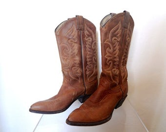 Vintage Abilene Boots - women or youth leather cowboy boots size 5.5M - western wear