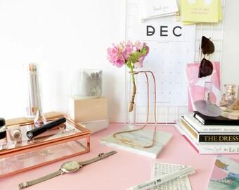 Air plant holder, vase copper desk decor, vase for her, modern vase gift, bedroom vase, hygge vase, office vase for her, cute office vase
