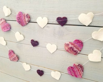 Wool Felt Heart Garland