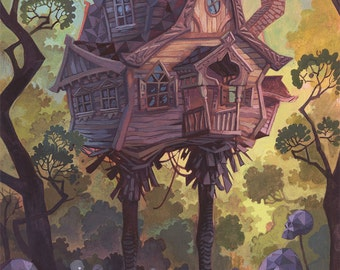 The Hut On Chicken Legs- 12x16 painting
