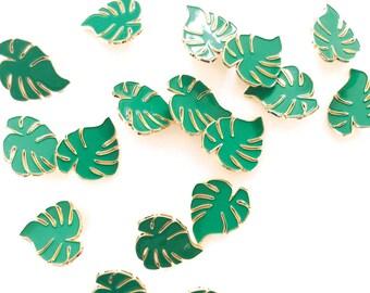 Monstera leaf Broche Pin Badge