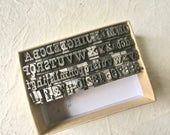 Small Vintage Letterpress Type in PT Barnum Font with Uppercase, Lowercase, Numbers and Punctuation for Printing and Stamping