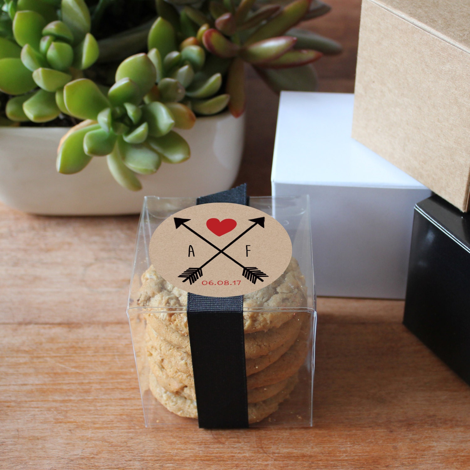 12 Personalized Wedding Favor Boxes Custom Color Bridal