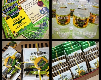 Plant vs Zombies Personalized Value Party Package for 12