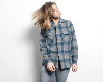 vintage PENDLETON plaid classic DESIGNER twin peaks GRUNGE seattle portland Pacific Northwest fashion spring flannel