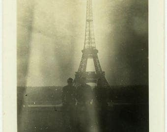 "Vintage Photo ""Smoky Memories in Paris"" Snapshot Antique Photo Old Black & White Photograph Found Paper Ephemera Vernacular - 67"