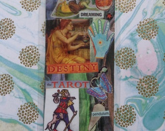 Metaphysical Handmade Collage Bookmark by Pepperland