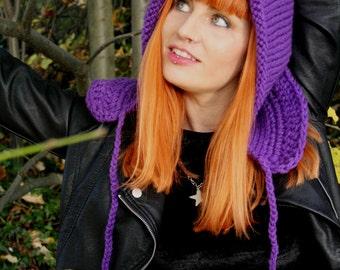 Pixie hat · Knit hat · Fairy · winter · woodland · Handknit Wool · Pixie hood