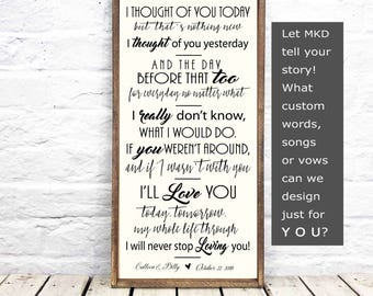 Can't Help Falling in Love, Elvis Presley , Ingrid Michaelson, Valentine's, Wedding Gift,  Anniversary Gift, Song Lyrics, Barnwood Frame