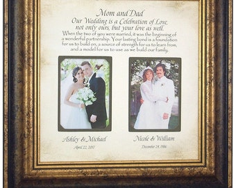 Mother of the Bride Gift, Wedding Gift for Parents, 16 X 16