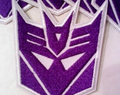 Transformers Decepticon Iron on/Sew on Patch