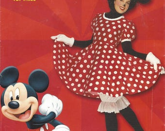 Rare Womens Minnie Mouse Costume Dress, Panties, Gloves & Hat OOP Simplicity Sewing Pattern 9387 Size 8 10 12 14 16 18 Bust 31 1/2 to 40 FF
