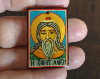 Custom made, personalized icon of Wonder-worker Saint Holy Prophet Aaron