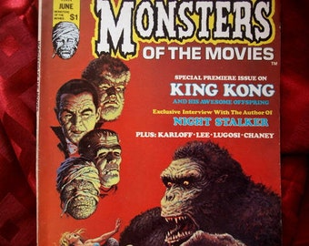 Monsters Of The Movies #1 Curtis 1974 No Frankenstein Dracula King Kong Karloff Lugosi Chaney Vampire Demon Stalker Horror Sci Fi Magazine