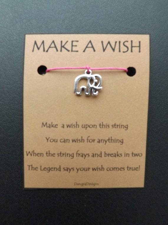 Dainty Elephant Wish String