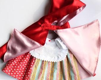 Baby little red riding hood costume. Sizes 12 - 24 months. Carnival costume. Immediate shipping.