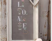 Reserved for Selena - NEW My Love cross stitch patterns by Madame Chantilly at thecottageneedle.com Spring cottage chic gardening