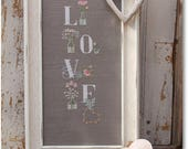 NEW My Love cross stitch patterns by Madame Chantilly at thecottageneedle.com Spring cottage chic gardening