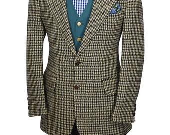 Harris Tweed 38R Houndstooth Preppy Well Tailored Men's Blazer