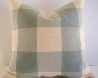Blue Check Pillow Spa Ballard Designs Pillow Blue Check Pillow Oversized Blue Buffalo Check Pillow Cover