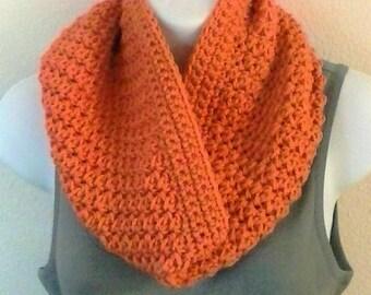 Textured Crochet Cowl - Terracotta