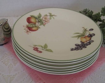Dessert Plates, Fruit Design, Made in England