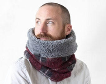 Father gift, mens gift, gift for dad, cowl scarf, scarf men, Snock®, wool neck warmer