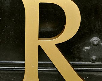 Vintage shop Letter, Pub Letter, uppercase R, foamex letter, british history, salvaged, 28.5cm high