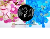 Gender Reveal Balloon   Gender Reveal Party   36 Inch Balloon   Gender Reveal Baby Shower   Confetti Balloon