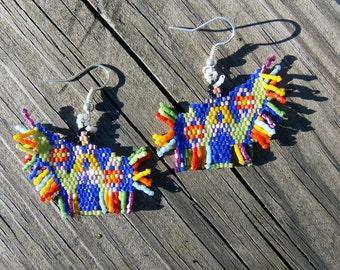 Native American style handmade beaded fancy shawl dancers