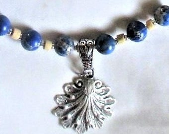 Blue Ocean Jasper necklace - OOAK