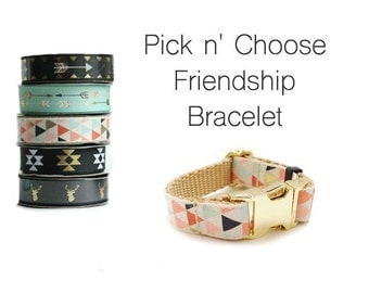 Friendship Bracelet in your choice of print, Snap Buckle Bracelet