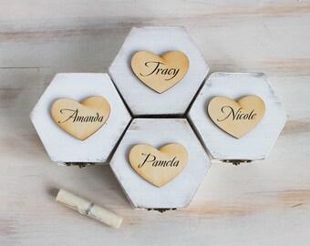 White Bridesmaids Gift Box set of 4 Bridesmaid Proposal Box Maid Of Honour Bridal Party Gift Box Personalized Bridesmaid Custom Box