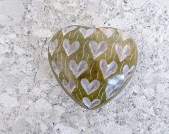 Engraved Stone Love Heart - Wedding - Engagement - Birthday - Gift