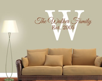 Personalized Family Name - Family Vinyl Lettering - Vinyl Wall Decals - Vinyl Wall Art - Family Vinyl - Great Vibes1 1001