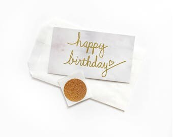 Birthday Card. Birthday Gift Tag. Small Birthday Card. Simple Birthday Card. Birthday Gifts for Her