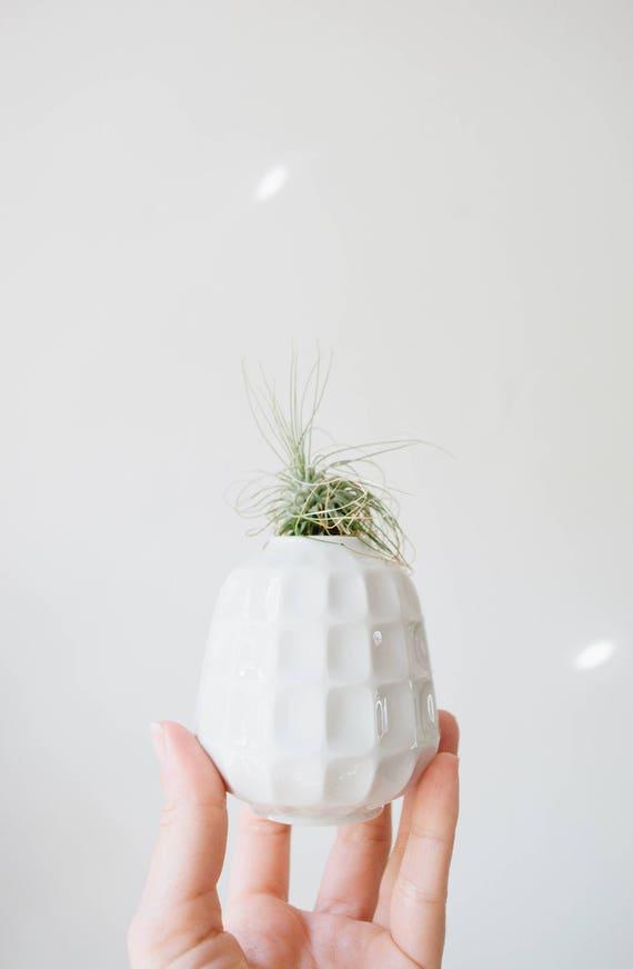 Mid Century Modern Glazed White Porcelain Mini Vase // Edelstein West Germany // Bohemian Home Decor