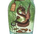 Spade-Tailed Pipewyrm - Original Watercolor Painting
