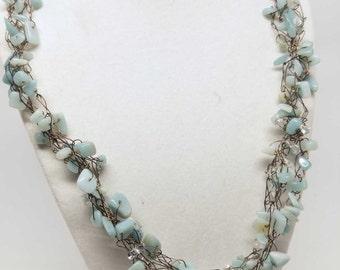 SALE! Turquoise Antique Copper Necklace