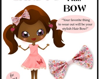 Pixie Candy's Hair Bow Tutorial - Learn How to Sew for Kids