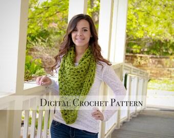 Crochet Pattern / Scarf Pattern / Triangle Cowl Scarf Pattern 010 / Cowl Pattern / DIY Christmas Gift  / DIY Crochet Pattern / DIY Pattern